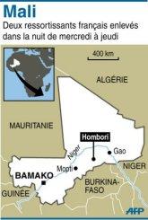 Carte de localisation de l'enlèvement_AFP