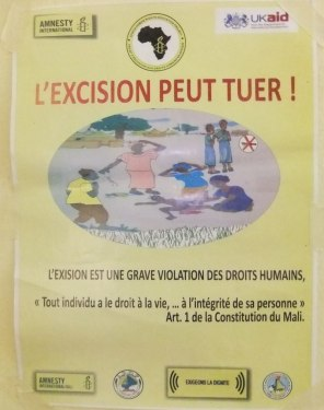 Affiche contre l'excision  (Amnesty etc.)