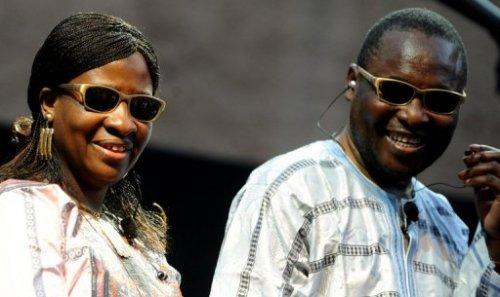 Le duo Amadou et Mariam aux thermes de Caracalla à Rome, le 27 juin 2011
