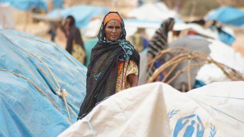 Malische Flüchtlinge in einem Lager in Niger