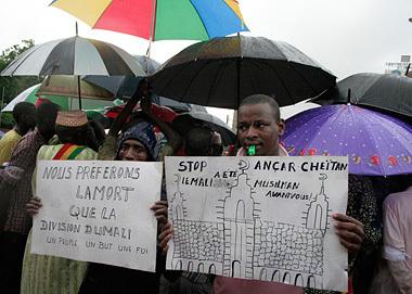 Protestaktion in der Hauptstadt Bamako gegen die Besetzung des Nordens