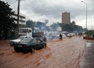 Les pluies diluviennes à Bamako, le 30 aout 2012