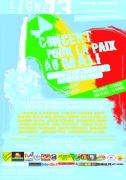 Affiche du Concert pour la Paix au Mali