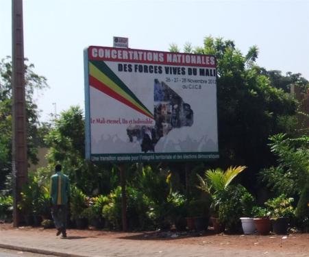 concertations nationales_affiche à BKO