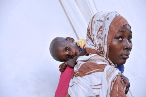 Tschad. Mangelernährung ist ein wesentlicher Grund für die Kindersterblichkeit