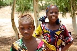Jeunes filles de l'école de Koureme, près de Tombouctou. Dans cette école soutenue par l