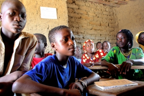 For students like this young boy, Oumar, 9, receiving nutritious meals allows them to fo