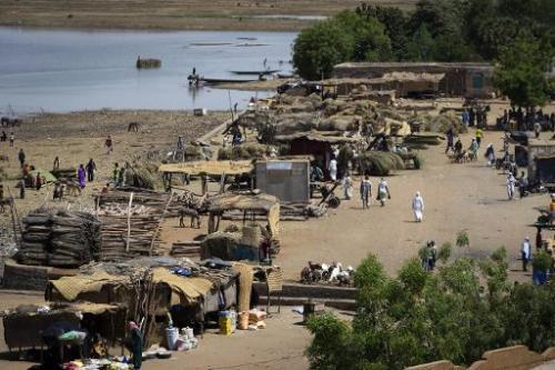 Vue de la rivière Niger, à Gao au Mali, le 4 avril 2013