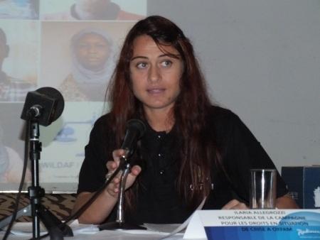 Ilaria Allegrozzi, d'OXFAM,co-auteure du rapport