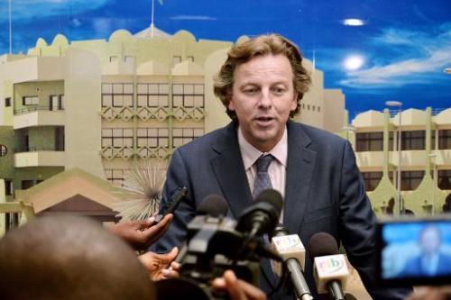 Le représentant spécial de l'ONU au Mali Bert Koenders à Ouagadougou, le 4 octobre 2013