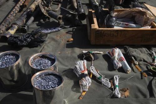 Des explosifs saisis en février 2013 par l'armée malienne à Gao