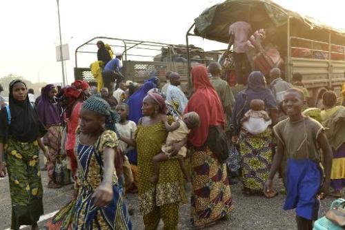Des Nigérians résidant en Centrafrique s'apprêtent à quitter le pays, le 3 janvier 2014