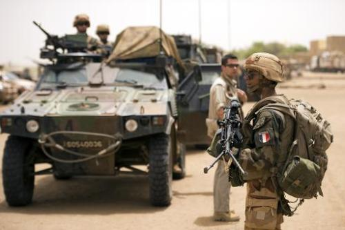 Soldats français le 13 juin 2013 à Gao au Mali