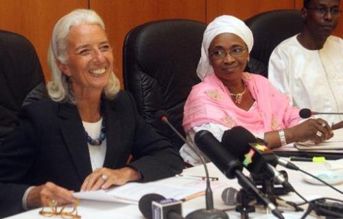 La directrice générale du FMI  en compagnie de la ministre malienne de
