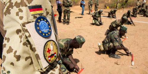 Die Bundeswehr bildet heute schon malische Soldaten aus.