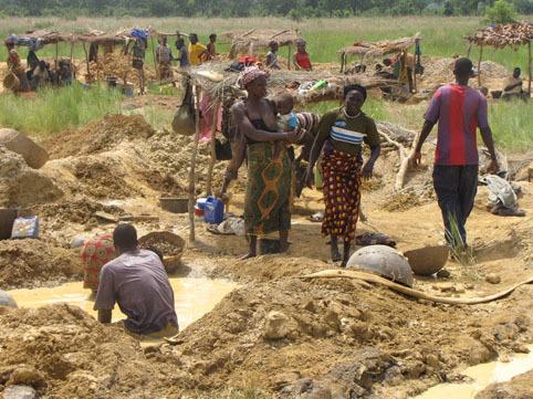 0 Orpaillage-mines région de Kangaba