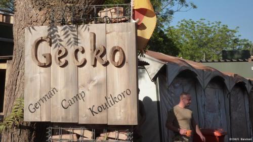 L'entrée du camp de Koulikoro