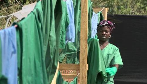 Capture d'images de Médecins Sans Frontières prises dans un camp médical dans la ville de
