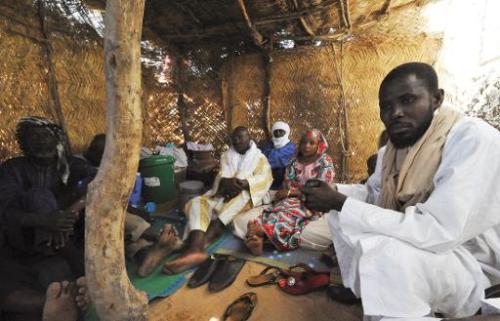 Maliens originaires de la région de Gao réfugiés à Ayorou, au Niger, le 27 janvier 2013