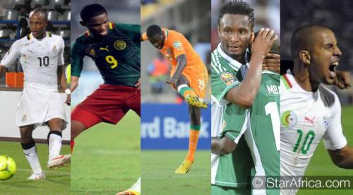 Les 5 représentants de l'Afrique