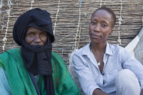 Rokia meets Malian refugee Alassane in Goudoubo camp.