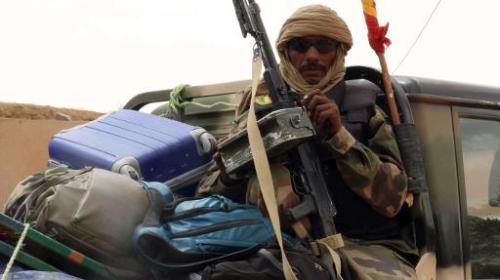 Un militaire malien à Kidal le 17 mai 2014