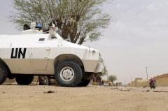 Une patrouille de la force de l'ONU, le 27 juillet 2013 à Kidal