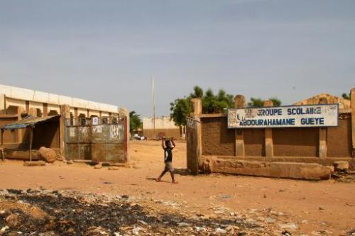 Une école fermée à cause de la menace du virus Ebola à Kayes, au Mali, le 24 octobre 201