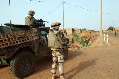 Des soldats français de l'opération Serval(remplacée par celle de Barkhane) à Gao au Mali, le 16 oct