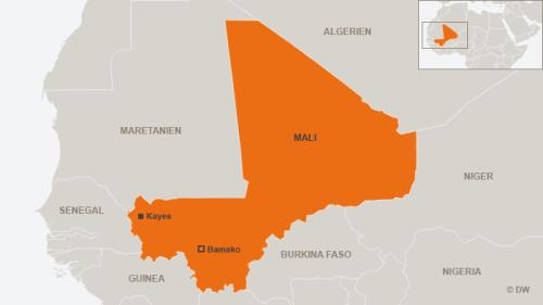 Karte Mali mit Kayes