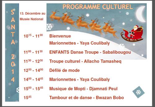 santa programme culturel
