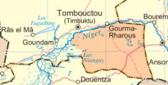Cercle de Gourma Rharous,carte-nord-mali