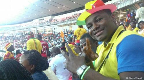 Noch kann Ghana-Fan Nana Fredua lächeln