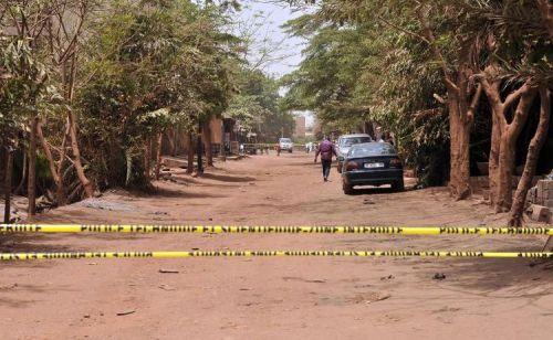 La rue dans laquelle un suspect de l'attentat du 7 mars a été tué le 13 mars 2015 à Bama