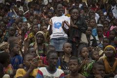 Cérémonie pour la Journée Internationale des Casques bleus au stade Mamadou Konaté à