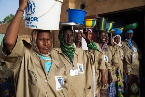 Membres de l'association à Gao lors de la Journée internationale de la femme africa