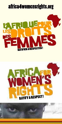 Banner africa for women's rights