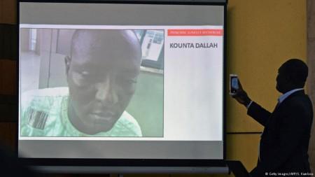 Foto (c) AFP/S.Kambou: Fahndungsbild des mutmaßlichen Haupttäters Kounta Dallah