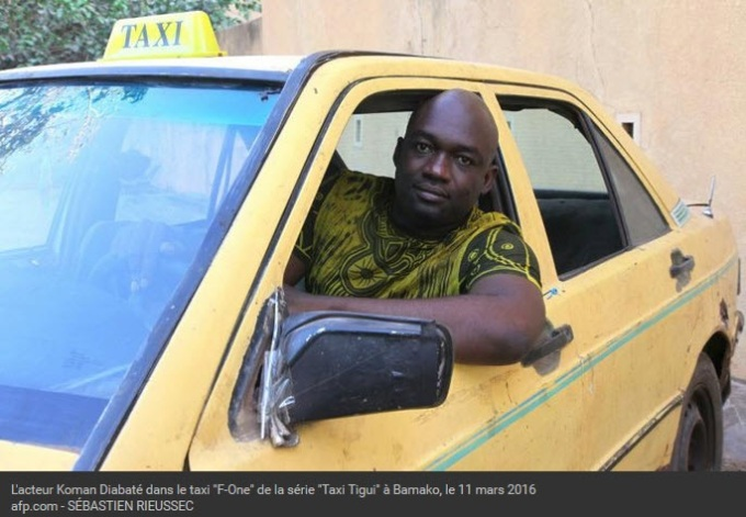 AFP 060416Koman Diabaté dans la série Taxi-tigui