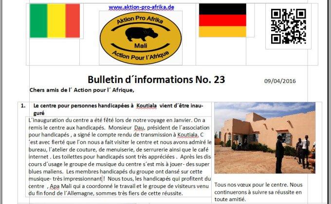 APA Bulletin d'info 23 p.1