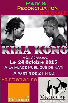 L'affiche du concert (qui enfin avait lieu le 7 novembre)