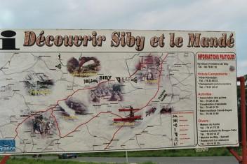 Panneau de tourisme - Tafel für den Tourismus: Siby und das Land der Mandé entdecken