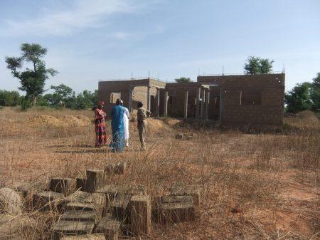 Le chantier du CsCom de Banankoroni, en novembre 2019 - Die Baustelle des zukünftigen Gesundheitspostens, im November 2019
